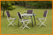 Dobrável bistro mesa e cadeira conjunto