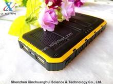 9000mAh Dual USB solar cell power bank portable charger