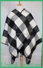 2015 new style High quality fashion poncho cheap poncho winter poncho