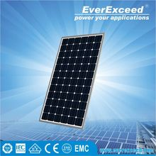 EverExceed160w 156*156mm Monocrystalline Solar Panel warranted for 5 years with TUV/VDE/CE/IEC certificates