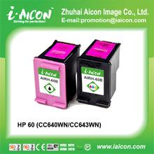 Remanufactured hp60 ink cartridge (CC640WN/CC643WN)