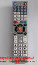 Gray 54 Colorful Big Button Learning nanping digital TV remote control IR Wireliss STB RC2*AAA Battery Letter in Chinese English