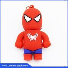 Spider man shaped usb flash memory drive bulk flash drive usb fast and safe shipping