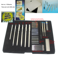 72pcs Pen Set Popluar Business Stationery Elegant and Classic Metal Pen Sets With Ball Pen Roller Pen Fountain Pen and Pencil