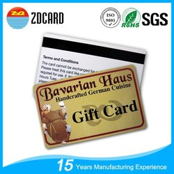 Top selling blank magnetic stripe smart card