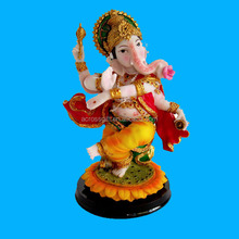 NEW Dancing Ganesh Statue Elephant Polyresin Indian God