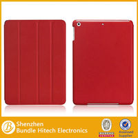 for iPad Air smart case with leather back cover 2014