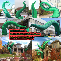 2015 new brand Event party decoration inflatables octopus legs/green-5m