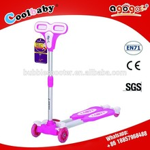 2015 best sale kid 4 wheel frog scooter with flashing PU wheel made in china