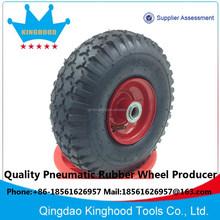 Pneumatic wheel 10 inch 3.50-4 Stud Tyre 3/4in Bore