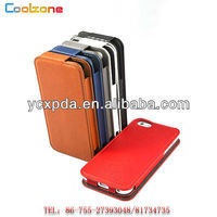 Foldable PU flip leather mobile phones case for iPhone5