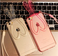 Multi-function Bunny Rabbit For iPhone 5/5S/6 Case Skin with Stand