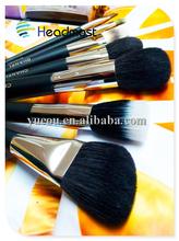 bbq cleaning brush 8 pcs professional makeup brush set , goat hair makeup brush set wholesale ,wood handle cheap makeup brushes