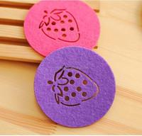 eco-friendly colourful wool cup mat felt craft