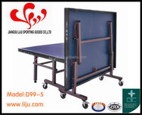 25MM Single Folding Table Tennis Table,2015 Newest Ping-Pong Table,Moveable&Foldable Table tennis Sports For Sale