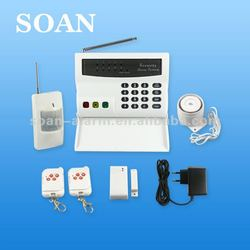 wireless home alarm Wired Wireless telephone auto dial alarm System