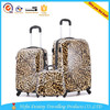 hot sale universal wheels pc+abs light leopard grain trolley luggage