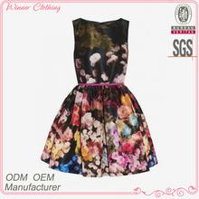 New design hot sale elegant tight waist casual 2015 spring summer women's fashion dress