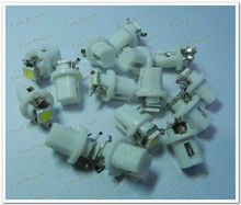 T5 B8.5 5050 1smd Wedge Base for Dashboards Gauge bulbs ,t5 led car dash light bulb