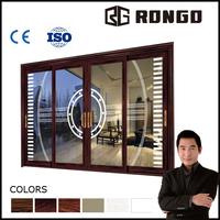 Rongo bi fold window /sliding door with magnetic shutter