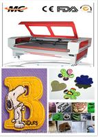 large platform printed fabric wool felt MC 1610 auto-feeding laser cutting machine