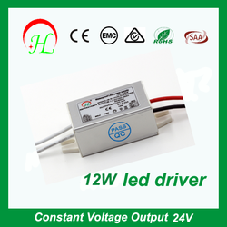 12w dc regulated power supply led strip light driver with CE SAA approval