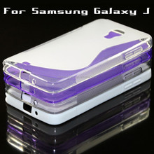 S Wave Line TPU Cell Phone Back Case Cover For Samsung N075T