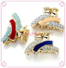 hot acrylic girls decorative pins bow hair clips beautiful fashion jewelry handmade plastic hair claw