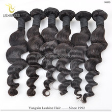 Wholesale Woman Hair Extension Fashion Unprocessed Weft Bulk Cambodian Human Hair