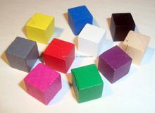 Colorido bebê brinquedo blocos de madeira