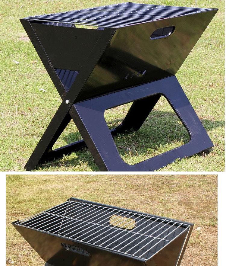 Voor balkon vouwenijzerenindoor draagbare houtskool bbq grill bbq ...