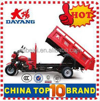 Popular 3 wheel cargo tricycle 200cc pedal trikes for sale with Dumper
