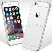 For Iphone 6s plus 5.5 Quanlity Aluminum Tempered Glass Metal Phone Back Case Cover