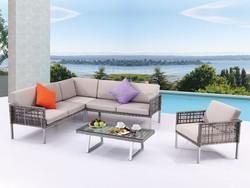 Patio furniture garden aluminum rattan sofa set