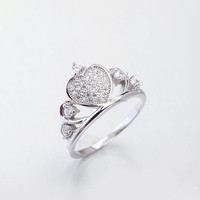LIXIN 925 sterling silver fashion jewelry crown ladies ring (FS07-56ZO)