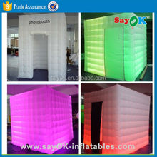 lighting inflatable cube photo booth tent with led inflatable photobooth rentals props