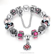 bangle bracelet as gifts/MYLOVE bracelet 2014 dream jewelry leather bangle Skull design MLBZ002