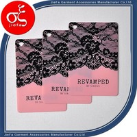 Swing tag custom hang tag/name brand swing tags/personalized luggage tags for woman clothing