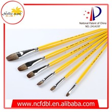 Quality Professional Art Supplies Mix Animal Hair Filbert Shape Excellent Quality Artists Brushes for Acrylic Oil Painting 136
