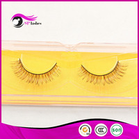 1 Pair High End Handmade Natural Long Fox Hair False Eyelashes,,Luxury Natural Fox hair Colored false eyelash reusable lashes