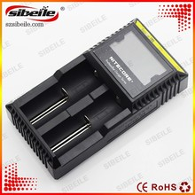 Nitecore D2 LCD manual for power bank battery charger Li-ion NiMH Battery Charge Suitable 18650,16340,CR123