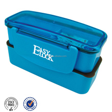 Two layers plastic Korean lunch box with compartment gift promotion