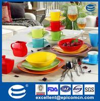 tableware porcelain color glazed serving bowls, serving coffee set