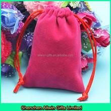 Drawstring pouch jewellery velvet gift bag