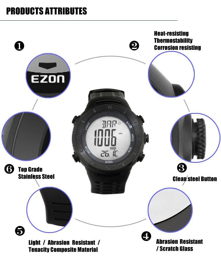 Ezon часы H011F11 профессия робот-с-компас высота подняться спортивные мужские наручные часы