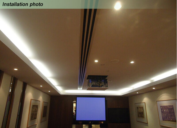 Linear Ceiling Grills : Exhaust linear slot diffuser view