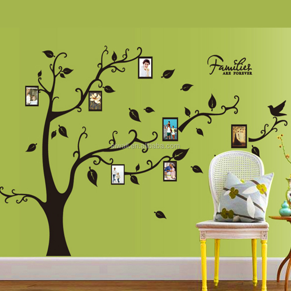 9063a Diy Family Tree Wall Sticker Photo Frame Wall Decal 3d Vinyl ...