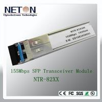 155Mbps SFP Bi-Directional Transceiver, 60km Reach 1550nm TX / 1310 nm RX,SFP Module