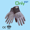 CE approved industrial grade polyster liner PU dip glove for heavy duty