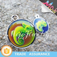 New Tech UV Digital Printing Chameleon Pattern Mood Charms Costume Jewelry Wholesaler with Cheap Prices